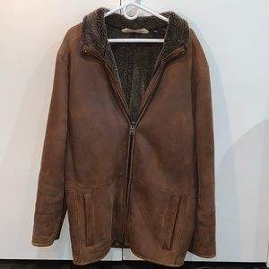 Men's Andrew Marc Leather Shearling Coat